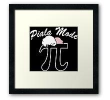 Pi a la Mode Funny Geek Nerd Framed Print