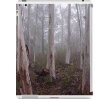 Tree trunks in the fog Sinclair's Gully Winery, Norton Summit iPad Case/Skin