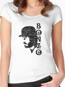 DISTRESSED BLACK BONZO Women's Fitted Scoop T-Shirt