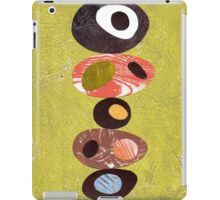 Orange lime green black white retro eames era art iPad Case/Skin