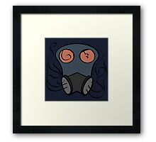 Abstract Gas Mask Framed Print