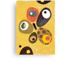 50s 60s style retro colourful design Canvas Print