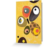 50s 60s style retro colourful design Greeting Card