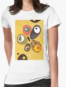 50s 60s style retro colourful design Womens Fitted T-Shirt