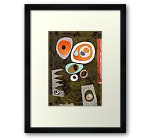 Rich colour retro simple shapes Framed Print