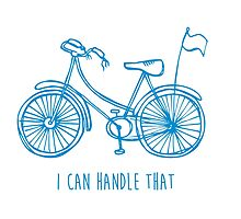 Hipster bicycle - blue by laurathedrawer