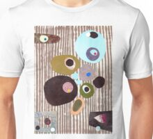 Retro striped abstract mid century inspired collage art  Unisex T-Shirt