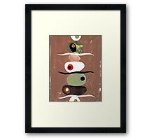 Simple Shapes Earthy Framed Print