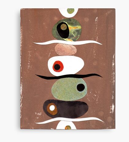 Simple Shapes Earthy Canvas Print