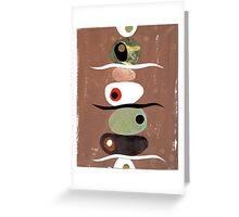 Simple Shapes Earthy Greeting Card