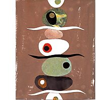 Simple Shapes Earthy Photographic Print