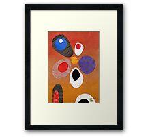 Warm rich colour abstract retro styling painting collage Framed Print