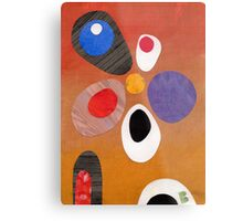 Warm rich colour abstract retro styling painting collage Metal Print