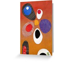 Warm rich colour abstract retro styling painting collage Greeting Card
