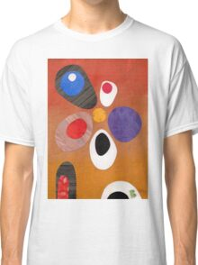 Warm rich colour abstract retro styling painting collage Classic T-Shirt