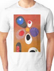 Warm rich colour abstract retro styling painting collage Unisex T-Shirt