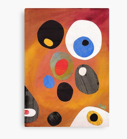 Retro abstract in rich warm colours Canvas Print
