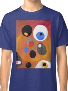 Retro abstract in rich warm colours Classic T-Shirt