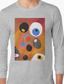 Retro abstract in rich warm colours Long Sleeve T-Shirt