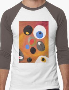 Retro abstract in rich warm colours Men's Baseball ¾ T-Shirt