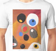 Retro abstract in rich warm colours Unisex T-Shirt