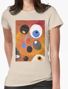 Retro abstract in rich warm colours Womens Fitted T-Shirt