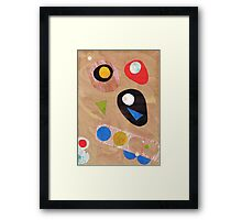 Funky retro style abstract Framed Print