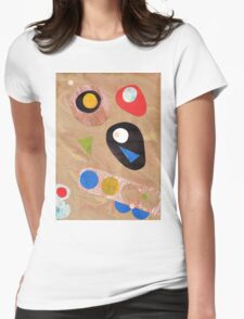 Funky retro style abstract Womens Fitted T-Shirt