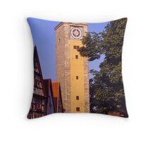 Clocktower, Rothenburg ob der Tauber, Germany. Throw Pillow