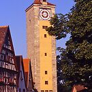 Clocktower, Rothenburg ob der Tauber, Germany. by johnrf