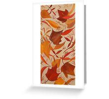 Swirling Leaves Greeting Card