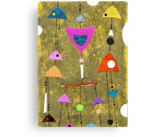Retro highly patterned atomic Canvas Print