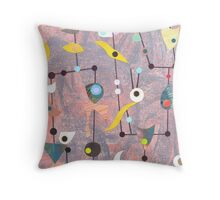 Retro Carnival no2 Throw Pillow