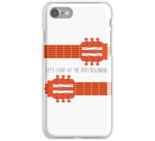 Sound of music guitar quote iPhone Case/Skin