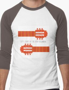 Sound of music guitar quote Men's Baseball ¾ T-Shirt