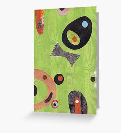 Wood Grained Green Greeting Card