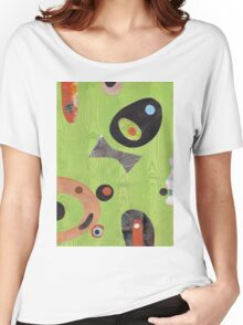 Wood Grained Green Women's Relaxed Fit T-Shirt