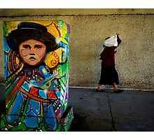 Lady Under Overpass Photographic Print