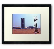 Parliament Buildings, Brasilia. Brazil. 1972. Framed Print