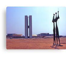 Parliament Buildings, Brasilia. Brazil. 1972. Canvas Print