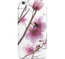 Pink magnolia flowers iPhone Case/Skin