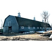 The Old Fashioned Grey Barn Photographic Print