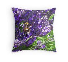 Bumble Lavendar Throw Pillow