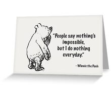 Nothings Impossible Greeting Card