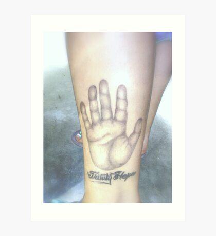 Chance's Tattoo Art Print