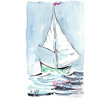 Sail away from the safe harbour Photographic Print