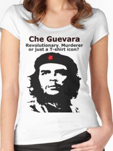 Che Guevara - Revolutionary, Murderer or just a T-shirt icon? Women's Fitted Scoop T-Shirt