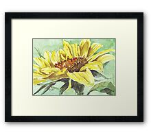 Symbol of Adoration - Sunflower Framed Print