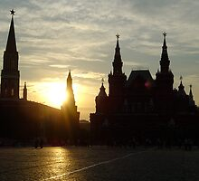 Sunset over Red Square, Moscow, Russia by claudiarose99