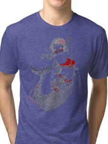 Mermaid Tattoo Tri-blend T-Shirt
